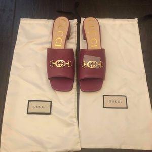 Brand New Gucci GG Zumi Mules Size 10